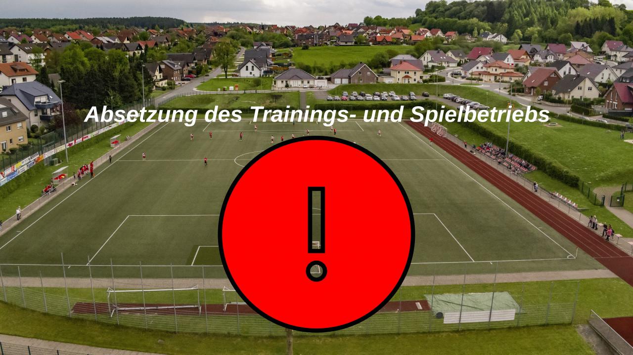 Absetzung des Trainings- und Spielbetriebs